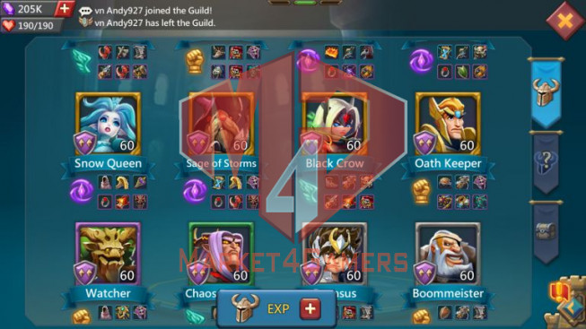 Account 352M -241M Research – 205K Gems – 61K Holy Stars – 12 Migrations Scroll