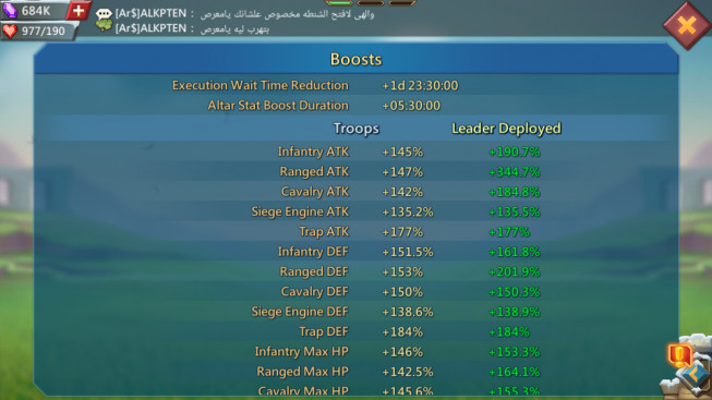 Account 608M – 127K Gems – 285M Research – 10M Troop – Cheapest Price