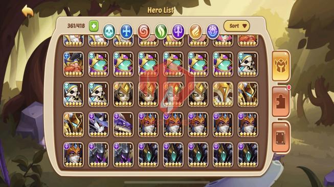 iOS – Lv224 – S1223 – VIP 8 – 2 Void Heroes Halora + Xia – 10 Heroes E5 + 1 E4 – 17 Skins – 3M4 Power