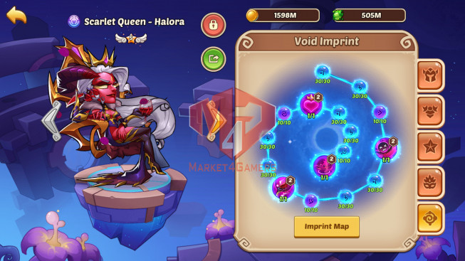 Android – Lv279- S43 – VIP 6 – 1 Void Heroes Halora – 12 Heroes E5 + 1E4 – 25 Skins – 8M3 Power