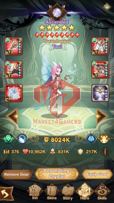 AFK 267M — Vip 10 — S533 – 31 Heroes Ascended – 2 Dimensional Heroes -30k diamond