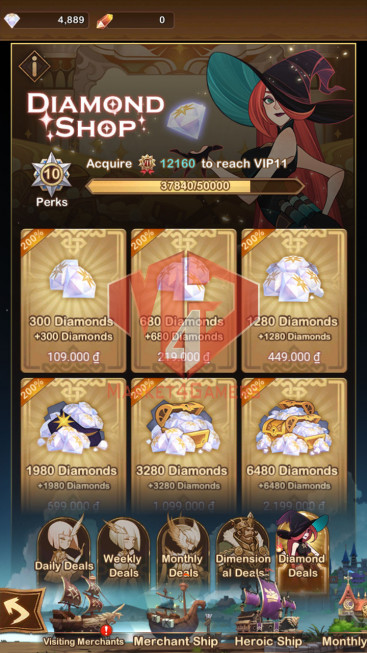 AFK 345M — Vip 10 — S143 — 34 Heroes Ascended