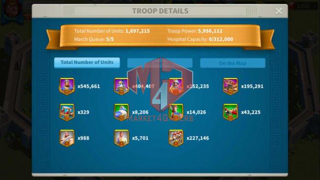 Account 30M Power ** Maxed 3 Commanders ** 5M4 Credits