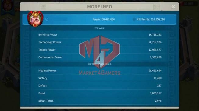 Account 58M Power ** Maxed Richard, Aethef ** Farm Account ** 60K Gems
