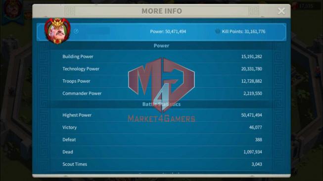 Account 50M Power ** Maxed YSG, Aethef ** 17K Gems