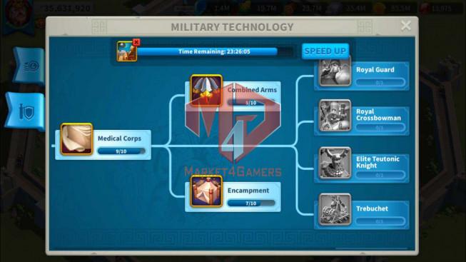 Account 35M Power ** Maxed 3 Commanders ** 3M Credits ** 14K Gems