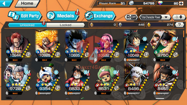 OPBR#28 Androi Max 2 EX – Shanks – Charlotte Linlin