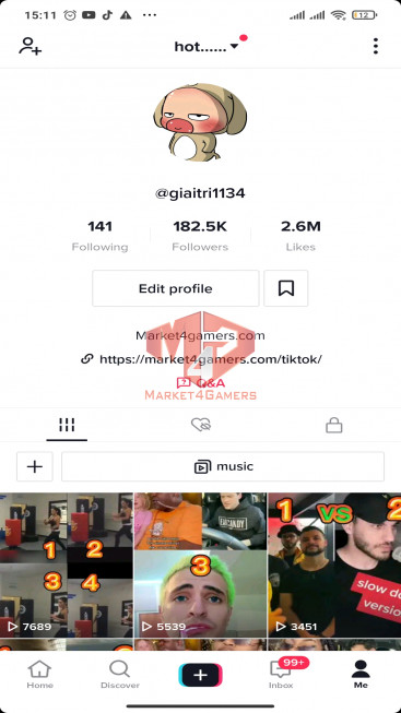 ✅ Account Registered Get Money 182.5K Followers – 2.6M Likes – Entertainment Channel