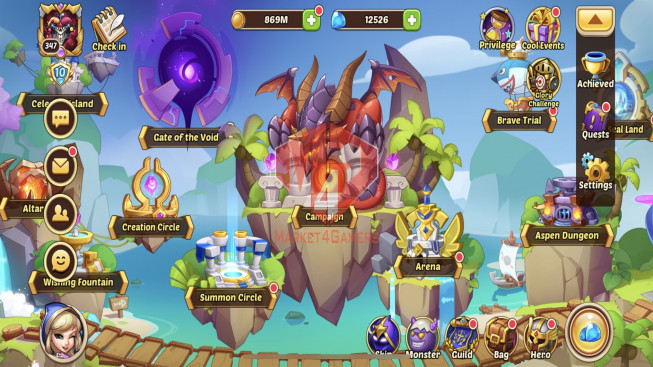 iOS – Lv347 – S34 – VIP 10 – 2 Void Heroes Asmodel + Halora – 22 Heroes E5 – 25 Skins – 13M4 Power
