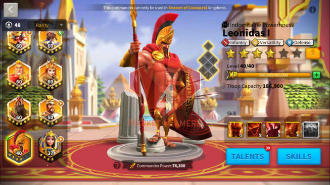 [SALE OFF] Account 68M T5 ** Vip 16 ** Maxed 8 Commanders ** 8M2 Credits ** 19K Gems