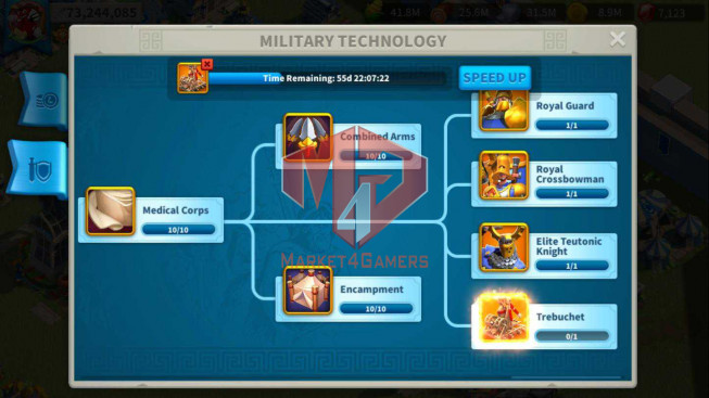 Account 73M Power T5 ** Maxed 8 Commanders ** 1M8 Credits ** 165 Gold Heads