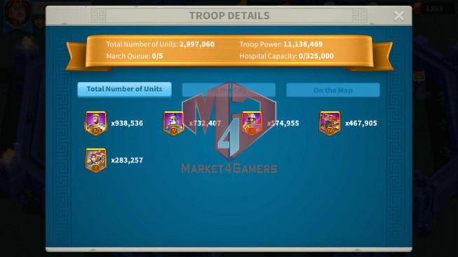 Account 46M Power ** Maxed 3 Commanders ** 8M7 Credits