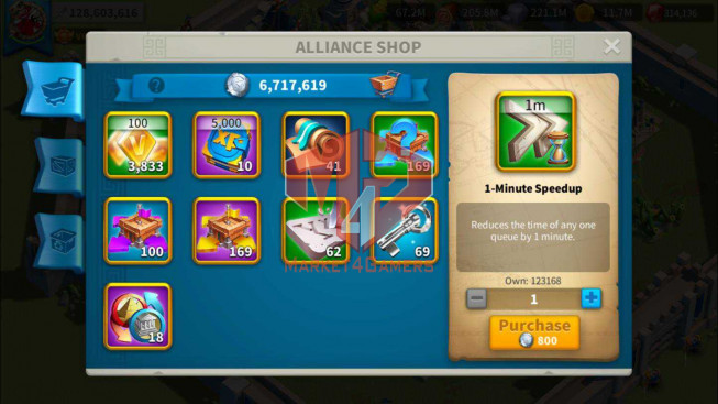 Whale Account 128M Power ** Maxed 14 Commanders ** Key Infantry + Archer ** 2762 Gold Heads ** 2 Skin Legend