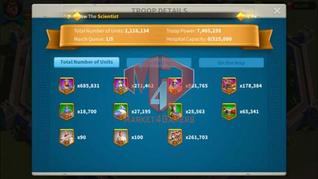 Account 38M Power ** Maxed 3 Commanders ** Farm Account ** 81K Gems