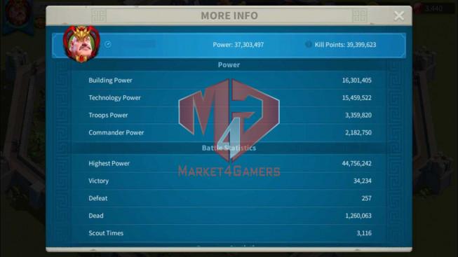 Account 37M Power ** Maxed Khan, Aethef ** 2M6 Credits ** Farm Account