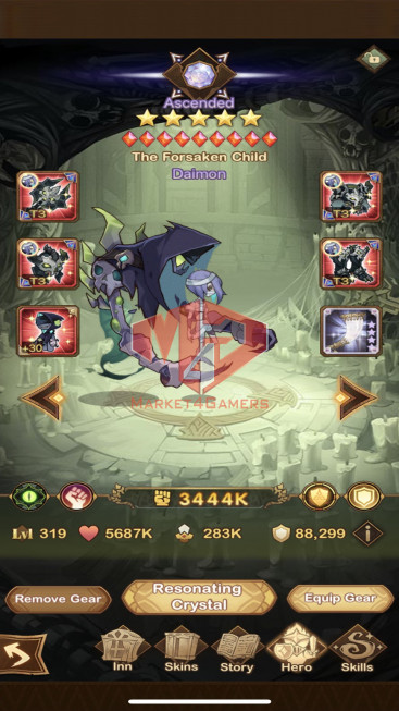 AFK 79M – Vip 9 — S698 — 25 Heroes Ascended – 5 Dimensional Heroes