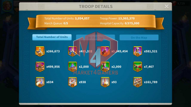 Account 56M T5 ** Maxed 4 Commanders ** 6M3 Credits