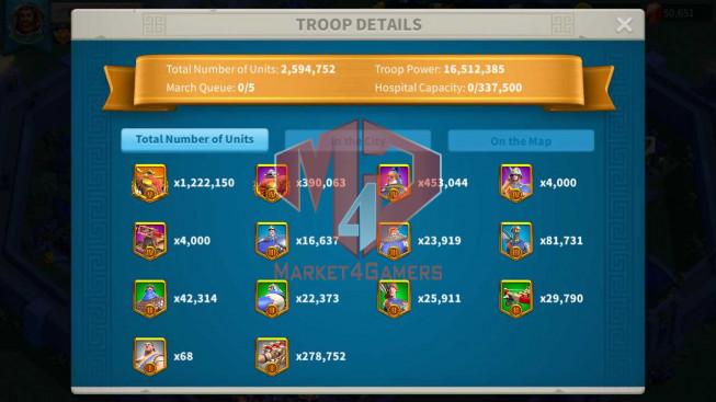 Account 60M T5 ** Maxed 3 Commanders ** Farm Account ** 3M6 Credits