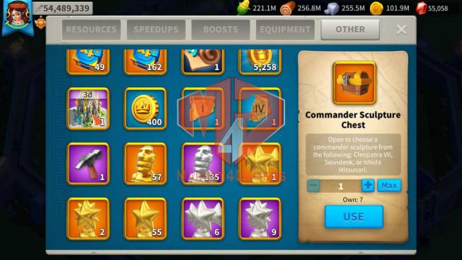 Account 54M T5 ** Maxed 4 Commanders ** 5M3 Credits ** Second Acc 22M ** 55K Gems