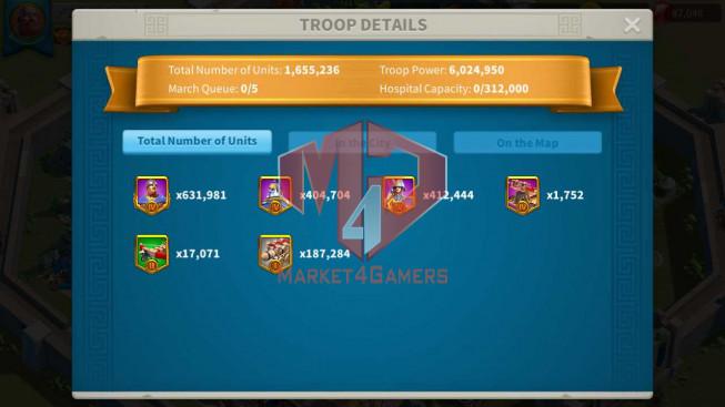Account 37M Power ** Maxed 3 Commanders ** Farm Account ** 87K Gems