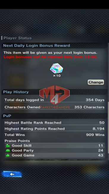 DBL#58 Android Lv184 – 3.9M Power – 14 Legend Finish – 180 Sparking – 19 Awakening – 2775 CC