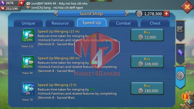 #616 No gift / Pact 5 639M ( 39MS Kingdom 380 , 2.4B Wood, 1,5B Ore, 1.6B Gold )