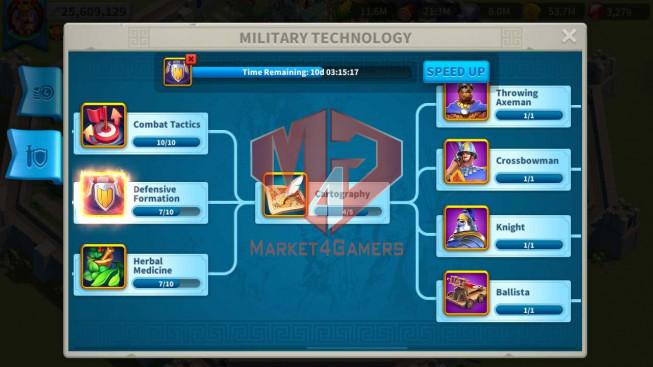 Account 25M Power ** Maxed 3 Commanders ** 3M Credits