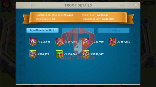 Account 34M Power ** Maxed 3 Commanders ** 800K Credits