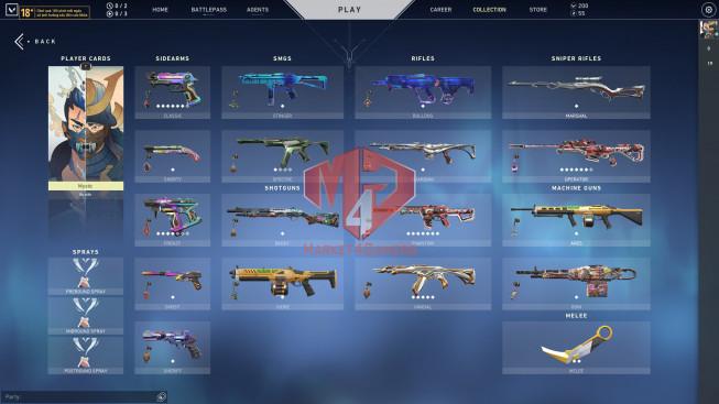 VLR#26 Asian 15 Agents – 34 Skins – Full Glitchpop – Forsaken Vandal – Prime Karabit 2.0
