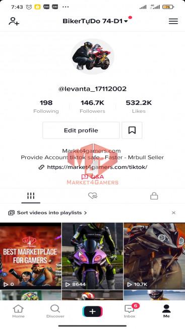 Account 146.7k Followers – 532.2k Likes – Entertainment Channel