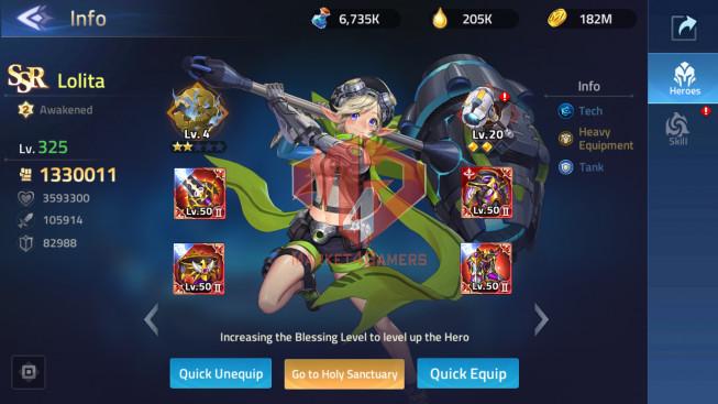 MLA Lv205 Vip 10, SV 70036 – 28 Heroes Awakened